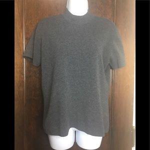 Jaclyn Smith XL Gray s/s Mock Turtleneck Sweater